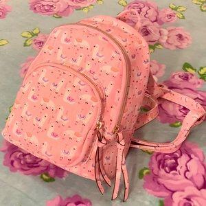 Pink Rainbow Llama Mini Backpack Purse UnderOneSky